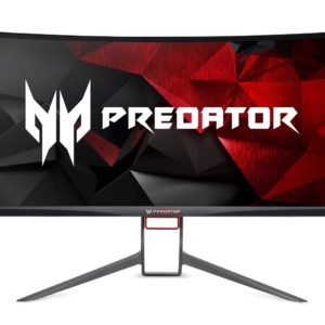 "Predator Gaming curved 34"" Ultra Wide QHD Monitor 300 Nits - 4 MS - 100 Hz- Display Port and HDMI Port IPS Panel-NVIDIA G-SYNC Technology Display Port - USB 3.0 HUB DTS stereo speakers Zero frame - height adjustment"