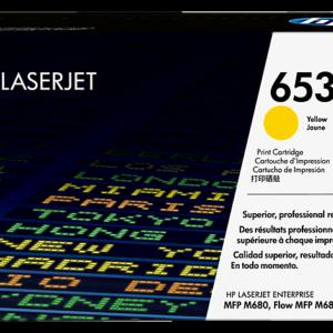 CF322A HP 653A Yellow Original LaserJet Toner Cartridge