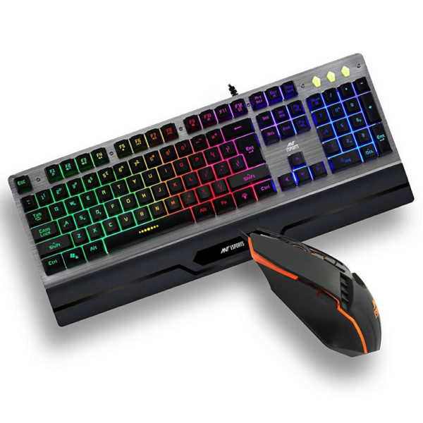 "Ant Esports KM540 Gaming Backlit Keyboard and Mouse Combo Price Delhi Nehru Place India. Rainbow LED Backlit for Fantastic Game Enjoyment – Ant Esports KM540, 2020 New version rainbow backlit gaming keyboard and mouse combo with multiple colours brings you to the fantastic gaming world. Independent Crater Structure for Longer Service Life -The key life of Ant Esports gaming keyboard can reach 50 million, which is twice of the normal wired computer keyboard, ensuring the durability. Adjustable DPI & Programmable PC Gaming Mouse - Advanced Gaming Optical Sensor, 4 Adjustable DPI - 800/1600/2400/3200 dpi meet your different needs. Wide Compatibility - The keyboard is slip-resistant designed to avoid accident water, coffee splashing, extending service life. This Combo is compatibility with Win 2000/3/XP/Vista/Win7/8/10/Mac OS 7 Programmable Button : 7 programmable button allows you to design your own mouse. Keyboard Mouse Combo-Ergonomic keyboard and mouse design, fits naturally in your hand. The USB keyboard and gaming mouse is simple to use, just ""plug and play""."