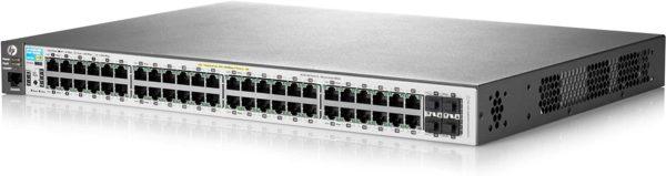 Aruba 2530 48G PoE+ Switch (J9772A) - 48 Ports + 48 Black CAT6 Cables
