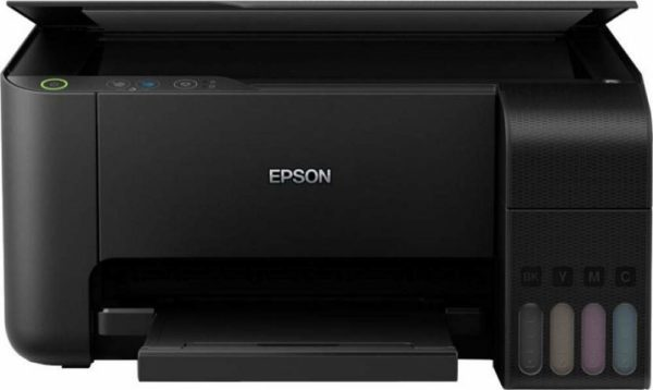 Printer Type - Ink Tank; Functionality - All-in-One (Print, Scan, Copy) , Scanner type - Flatbed; Printer Output - Colour Connectivity - Wi-Fi, USB, App Pages per minute - 33 pages (Black & White), 15 pages (Colour) ; Cost per page - 7 paise (Black & White), 18 paise (Colour) - As per ISO standards Ideal usage - Home and Small office, Regular / Heavy usage (more than 300 pages per month) Page size supported - A4, A5, A6, B5, C6, DL ; Duplex Print - Manual ; Print resolution - 5760 x 1440 Compatible Ink Bottle - T003 (Black), T003 (Cyan), T003 (Magenta), T003 (Yellow) ; Page Yield - 4500 pages (Black & White), 7500 pages (Colour) ; Comes with 4 original Epson Ink Bottle (one of each colour - Bk, C, M, Y) inside the box Warranty - 1 year or 30,000 pages whichever is earlier on-site warranty from the date of purchase